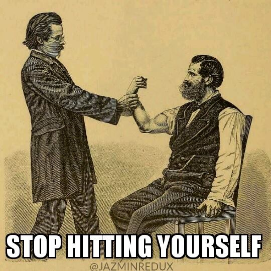 Sibling Day Meme - Stop Hitting Yourself